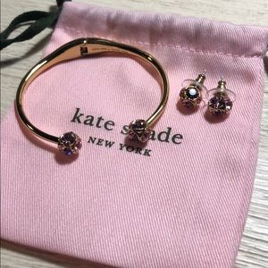 Kate Spade bracelet with matching earrings
